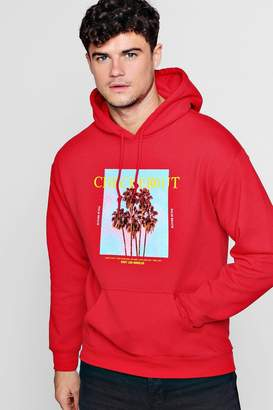 boohoo Checked Out Photo Print Hoodie
