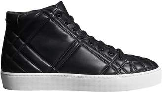 Burberry Check-quilted Leather High-top Sneakers