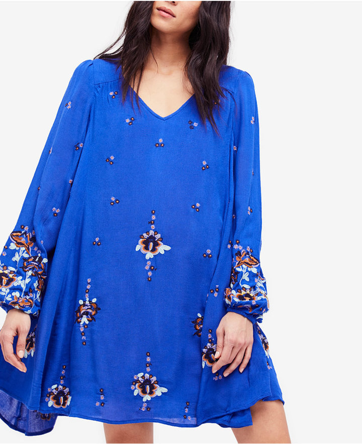 Free People Oxford Embroidered Shift Dress 3