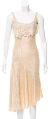 L'Wren Scott Lace Midi Dress