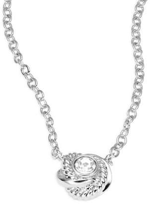Kate Spade Infinity and Beyond Silvertone Mini Pendant Necklace