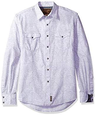 Wrangler Men's Retro Two Pocket Long Sleeve Snap Front Shirt