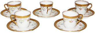 One Kings Lane Vintage Limoges Espresso Cups - Set of 5 - House of Charm Antiques