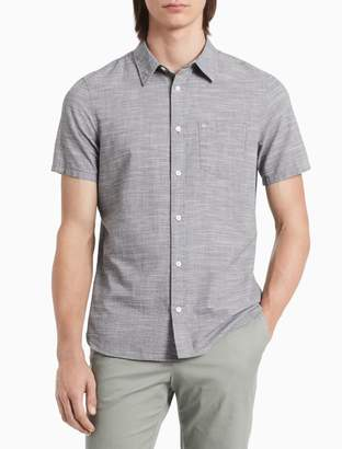 Calvin Klein Classic Fit Chambray Short Sleeve Shirt