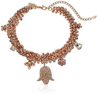 Badgley Mischka Womens Crystal Tulip Charm Necklace