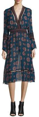 NICHOLAS Marrakech Printed Chiffon Midi Dress $595 thestylecure.com