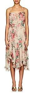 Zimmermann Women's Laelia Floral Silk Tiered Dress - Pink