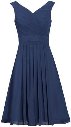 ANTS Women's Straps Chiffon Bridesmaid Dress Short Evening Gowns Size US