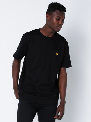 Carhartt Short Sleeve Chase T-Shirt in Black Gold