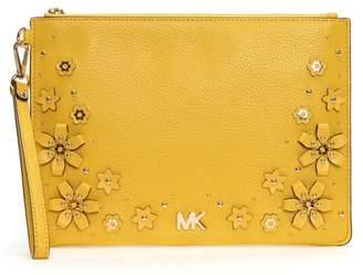 Michael Kors Medium Top Zip Sunflower Wristlet Pouch