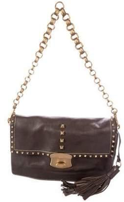 Prada Vitello Metal Sound Shoulder Bag Brown Vitello Metal Sound Shoulder Bag