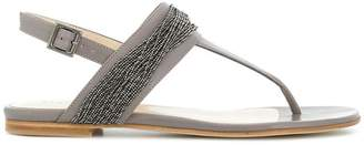 bead-embellished sandals - Grey Fabiana Filippi HC8ke9FLu