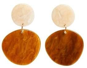 MANGO Tortoiseshell resin earrings
