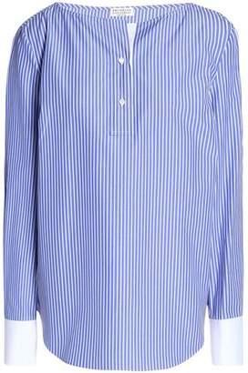 Brunello Cucinelli Striped Cotton-Poplin Tunic