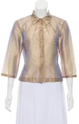 Tara Jarmon Metallic Long Sleeve Top