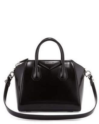 Givenchy Antigona Small Leather Satchel Bag, Black $2,280 thestylecure.com