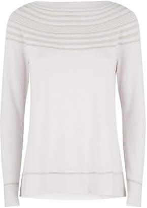 D-Exterior D.Exterior Metallic Stripe Sweater