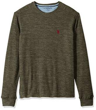 U.S. Polo Assn. Men's Spece Dye Crew Neck Thermal Shirt