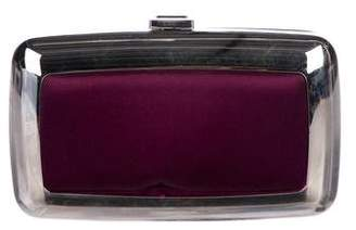 Roger Vivier Satin-Accented Box Clutch
