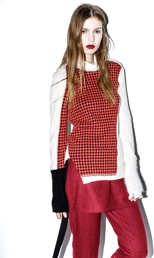 3.1 Phillip LimCollage Turtle Neck with Wool Combo