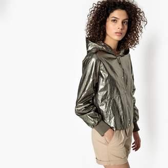 SEE U SOON Metallic Hooded Jacket