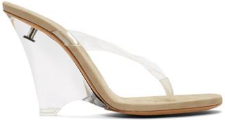 83668bf5cc Yeezy Transparent Thong Heeled Sandals