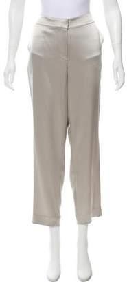 Couture St. John Mid-Rise Satin Pants