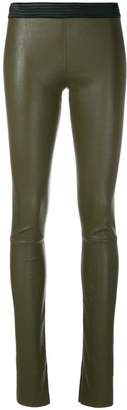 Drome fitted leather leggings