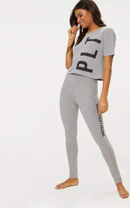 PrettyLittleThing Grey Legging Pyjama Set