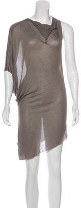 Helmut Lang Draped Sleeveless Tunic