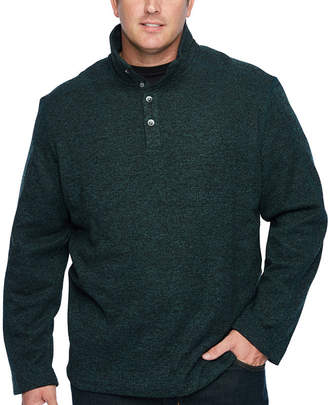 Van Heusen Collar Neck Long Sleeve Cardigan - Big and Tall