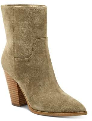 Marc Fisher Women's Devin Pointed Toe Suede High-Heel Western Booties