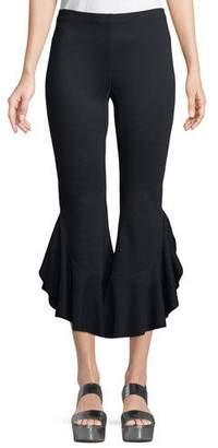 Bailey 44 Petunia Flared-Leg Crop Pants