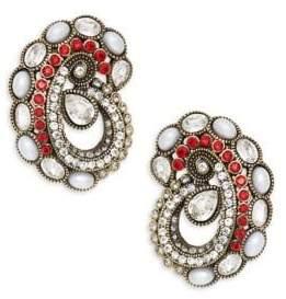 Heidi Daus Paisley Button Earrings
