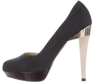 Stella McCartney Suede Platform Pumps
