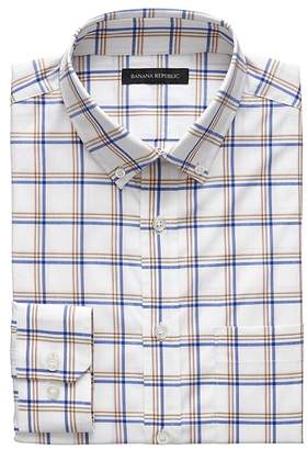 Banana Republic NEW Slim-Fit Tech-Stretch Cotton Plaid Shirt
