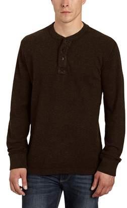 Eddie Bauer Men's Button Front Long Sleeve Sweatshirt - brown