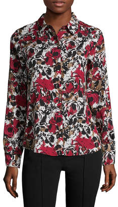 Karl Lagerfeld Printed Buttoned Blouse