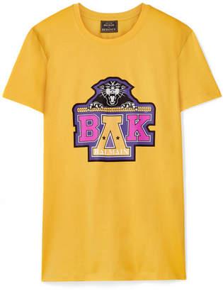 Balmain Beyoncé Coachella Printed Cotton-jersey T-shirt - Yellow