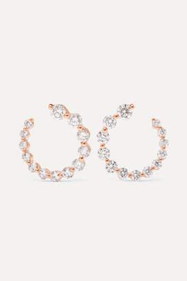 Anita Ko Garland 18-karat Rose Gold Diamond Hoop Earrings