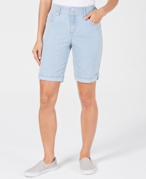 Style&Co. Style & Co Striped Bermuda Shorts, Created for Macy's