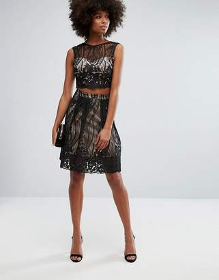 Lipsy Lace Overlay Prom Skirt