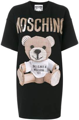 Moschino cardboard teddy print dress