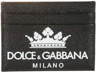 Dolce & Gabbana Crown & Logo Print Cardholder