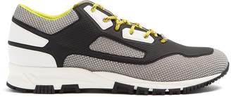 Lanvin High Frequency PVC and mesh low-top trainers