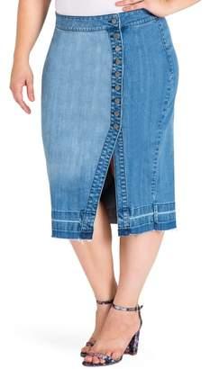Standards & Practices Harley Denim Midi Skirt
