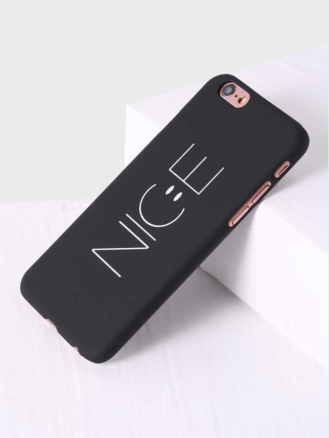 Black Letter Print iPhone Case