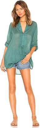 Vix Paula Hermanny Mini Fold Caftan Dress