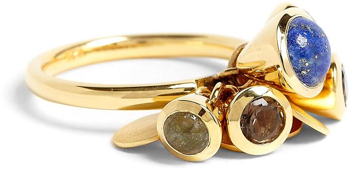 Astley Clarke Fanfair Lapis Ring