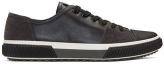 Prada Black Leather and Suede Sneakers